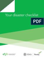 Your Disaster Checklist-Consumer Financial Protection Bureau