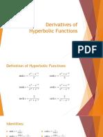 Derivatives of Hyperbolic Functions