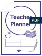 Teacher Planner Academic Year 2019 to 2020 Ds Template