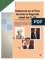 Gobiernos en El Peru 2ª Mitad S.xx