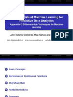Appendix C Differentiation Techniques for Machine Learning