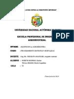 Informe de Equipos de Procesamiento de Frutas y Hortalizas