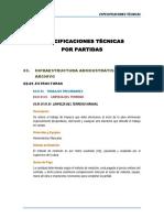 Especificaciones Tecnicas - estructuras