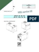 Chicago Pneumatic QRS 20-40 CPVS 20-40 CULus Spare Parts List en Brendola 2200780028 Ed 03-1