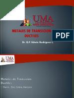 METALES DE TRANSICION DUCTILES