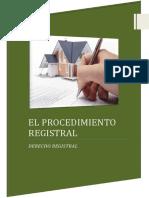 El Procedimiento Registral
