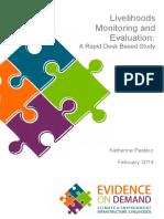 Livelihoods Monitoring and Evaluation - Oe Dfid 2014
