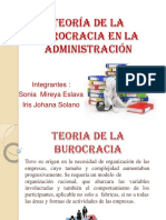 Teoria de La Burocracia en la Administracion