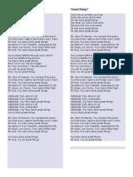 Lyrics of Great Things by Wickham
