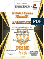 PRIME Certificate