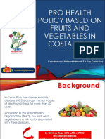 DR CECILIA GAMBOA, COSTA RICA - Final Pro Health Policy Based on Fruits and Vegetables