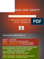 Fire safety course CFD and parametric curve