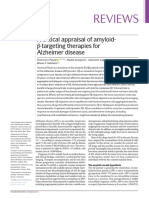 A Critical Appraisal of Amyloid-β-targeting Therapies for Alzheimer Disease 2019 Review
