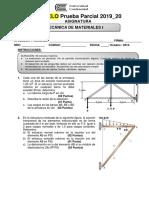 Evaluación Parcial Mecánica de materiales