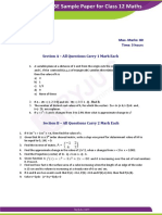CBSE Sample Paper for Class 12 Maths 2 Er2