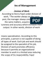 Henri Fayol's Principle of Management