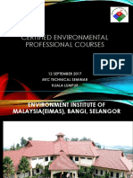 Certified Environmental Professional Courses
