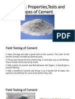 Cement ,It's Properties,Tests,Types of Cement