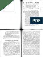 Demeter Monatszeitschrift für biologisch-dynamische Wirtschaftsweise Jahrgang 1936