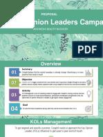 Key Opinion Leaders Proposal