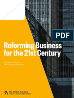Reforming Business for 21st Century - British Academy