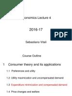 Lecture 4 - Expenditure Minimization Compensated Demand