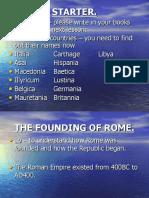 Lesson 1 Roman Lesson1 Founding of Rome[1] (1)