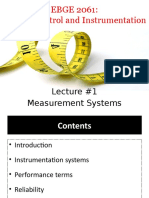 Lecture #1 (Measurement Systems)