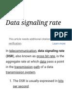 Data Signaling Rate