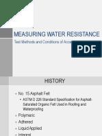 Water Resistive Barriers _ Measuring Water Resistance