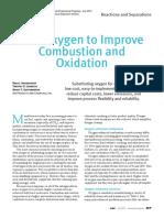 Uso de oxigeno para la combustión