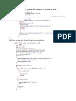 Basic Java Programes