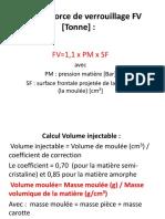Calcul de Force de Verrouillage FV [Tonne