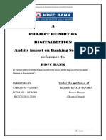 Summer Internship Report Under a Topic ''Digitization''.