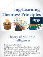 Teaching Learning Theories Principles Report