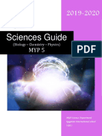 MYP5 M5 Sciences Guide 2019-2020