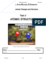 Topic 2 Atomic Structure Notes