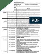 CARTEL de CONTENIDOS 2019 Educación Física 3ro de Secundadria