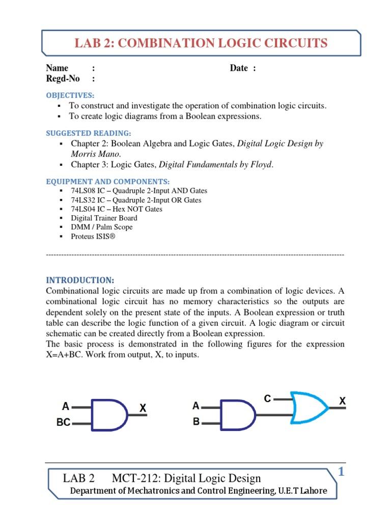 write an essay on combinational logic