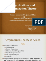 Organization Theory and Design (Chap # 1)