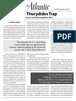7. Allison, The Atlantic - Thucydides Trap