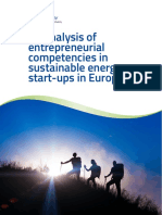 An Analysis of Entrepreneurial Competencies in Sustainable Energy Start Ups in Europe