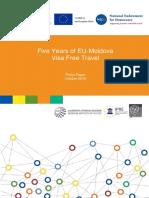 Five Years of EU-Moldova Visa Free Travel