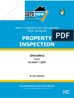 Visual Building Inspection Report - House Check NSW