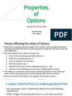 Properties of Options