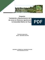 Plan de Inversiones Comunidad Nativa de Poyeni Región Junín- Perú