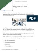 Artificial Intelligence in Retail - Usm Systems - Medium