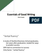 Basics of Good Writing