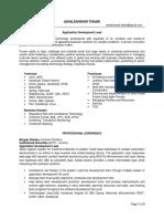 Akhilendra Sample Resume