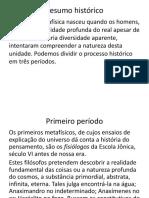 Resumo Histórico de Ontologia